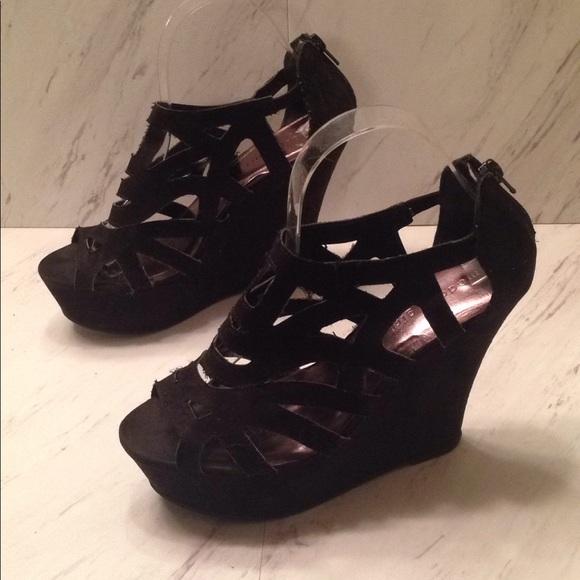 780b70ff14f 🎉SALE🎉 Madden Girl Caged Wedge Heels